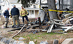 WATERBURY CT. - 09 January 2020-011121SV02-Fire inspectors investigate a fire that happened Sunday evening at 187 Wolcott Street in Waterbury Monday.<br /> Steven Valenti Republican-American