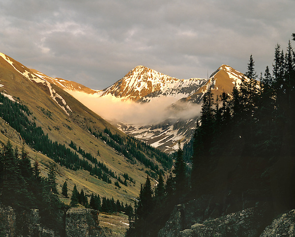 San Juan Mountains at sunset, Silverton, Colorado, USA .  John leads wildflower photo tours into American Basin and throughout Colorado. All-year long.