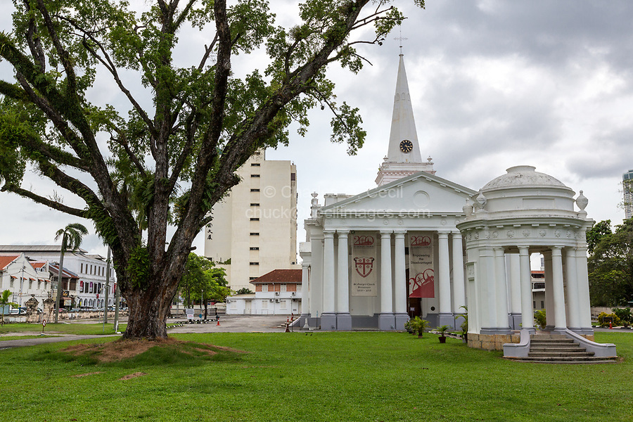George Town, Penang, Malaysia.  St. George Anglican Church.