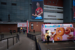 Manchester United 0, Manchester City 2, 24/04/2019. Old Trafford Stadium, English Premier League. A doughnut van outside the stadium pictured before Manchester United hosted Manchester City at Old Trafford. This was the 178th time the sides had met, with City looking to overtake rivals Liverpool in the race for the English Premier League title. City won the match 2-0 watched by 74,431 spectators. Photo by Colin McPherson.
