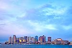 Sunrise on Boston Harbor, Boston, MA, USA