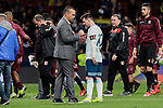 Argentina's Leo Messi and Venezuela's coach Rafael Dudamel during International Adidas Cup match between Argentina and Venezuela at Wanda Metropolitano Stadium in Madrid, Spain. March 22, 2019. (ALTERPHOTOS/A. Perez Meca)
