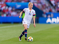 PARIS,  - JUNE 16: Emily Sonnett #14 dribbles forward during a game between Chile and USWNT at Parc des Princes on June 16, 2019 in Paris, France.