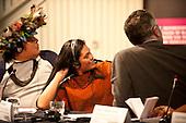 London, England. Visit of Sheyla Yakarepi Juruna, Chief Almir Narayamoga Surui and Ruth Buendia Mestoquiari Ashaninka to London to highlight the impact of hydroelectric dams proposed for the rivers of the Amazon basin,