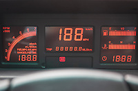 BNPS.co.uk (01202) 558833. <br /> Pic: SilverstoneAuctions/BNPS<br /> <br /> Pictured: 80's style dash display. <br /> <br /> Fire up the price tag...<br /> <br /> This immaculate Audi Quattro got collectors of 'modern classic' cars all fired up - as it sold for a record-breaking price of £163,125.<br /> <br /> The iconic eighties motor was believed to be the last one ever manufactured by the German car giant when it rolled off the production line in 1991.<br /> <br /> The UR Quattro 20V has had just two owners in its 30 year life and has just 9,700 miles on the clock.<br /> <br /> As a result the pearly white vehicle proved highly desirable when it went under the hammer.