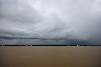 stormy sky at river side