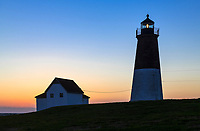 Judith Point Lighthouse, Narragansett, Rhode Island, USA.