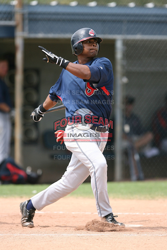 March 20th 2008:  Lucas Montero of the Cleveland Indians minor league system during Spring Training at Chain of Lakes Training Complex in Winter Haven, FL.  Photo by:  Mike Janes/Four Seam Images