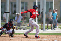 Boston Red Sox Yoan Aybar (32) during an instructional league game against the Minnesota Twins on September 26, 2015 at CenturyLink Sports Complex in Fort Myers, Florida.  (Mike Janes/Four Seam Images)