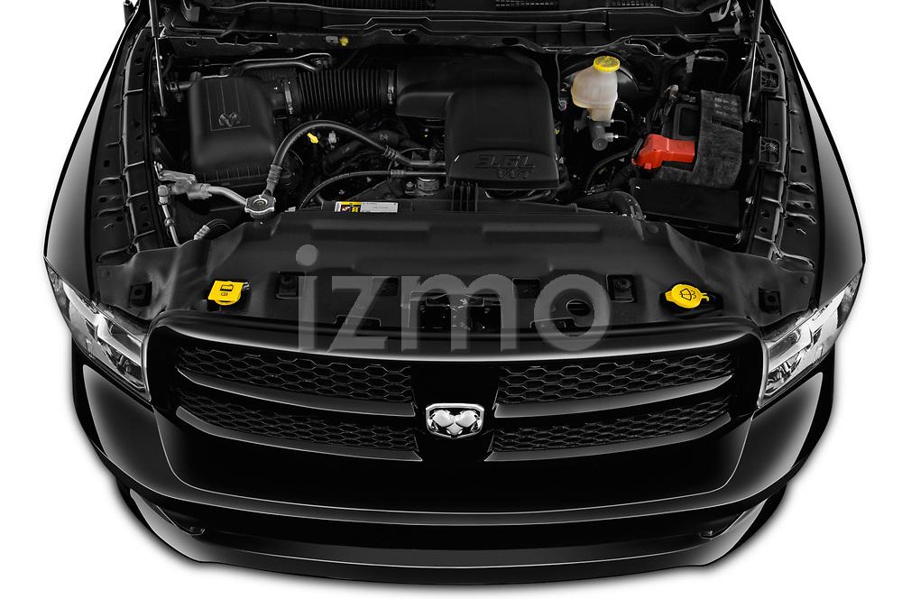 Car stock 2019 Ram RAM-1500-Classic  Express 4 Door Pick Up engine high angle detail view