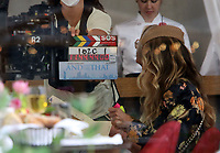 NEW YORK, NY - July 14: Sarah Jessica Parker, on the set of the HBOMax Sex And The City reboot series 'And Just Like That' in New York City on July 14, 2021. <br /> CAP/MPI/RW<br /> ©RW/MPI/Capital Pictures