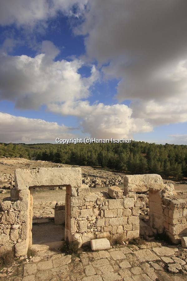 Israel, Southern Hebron Mountain, the ancient Synagogue at Hurvat Anim