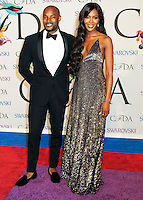 NEW YORK CITY, NY, USA - JUNE 02: Tyson Beckford and Naomi Campbell arrive at the 2014 CFDA Fashion Awards held at Alice Tully Hall, Lincoln Center on June 2, 2014 in New York City, New York, United States. (Photo by Celebrity Monitor)