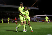 Dan Happe of Leyton Orient scores the second goal for his team and celebrates during Crawley Town vs Leyton Orient, Papa John's Trophy Football at The People's Pension Stadium on 5th October 2021