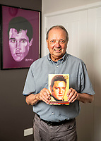 BNPS.co.uk (01202 558833)<br /> Pic: MaxWillcock/BNPS<br /> <br /> Pictured: Todd Slaughter with a club magazine.<br /> <br /> One of the world's most renowned Elvis Presley fan clubs is expected to sell for a staggering £100,000.<br /> <br /> The Official Elvis Presley Fan Club of Great Britain was established in London in 1957 and has a membership of almost 5,000 people over 60 years on.<br /> <br /> The current president, Todd Slaughter, bought it in 1967 after working as a journalist on music magazines.