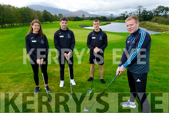Launching the IT Tralee Golf Classic Fundraiser at the Beaufort Golf Club on Monday and the event will go ahead on October 24th at the Beaufort Golf Club. Front right: Eamon Fitzgerald. Back l to r: Ciara Murphy, Tony Brosnan and Thomas Kearns.