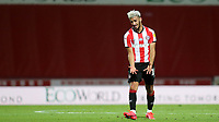 Said Benrahma of Brentford shows his frustration at the final whistle during Brentford vs Barnsley, Sky Bet EFL Championship Football at Griffin Park on 22nd July 2020