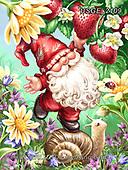 Dona Gelsinger, CUTE ANIMALS, LUSTIGE TIERE, ANIMALITOS DIVERTIDOS, paintings+++++,USGE2109,#ac#, EVERYDAY ,dwarf,flowers,garden ,children,