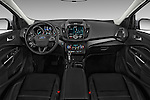 Stock photo of straight dashboard view of 2018 Ford Escape Titanium 5 Door Suv Dashboard