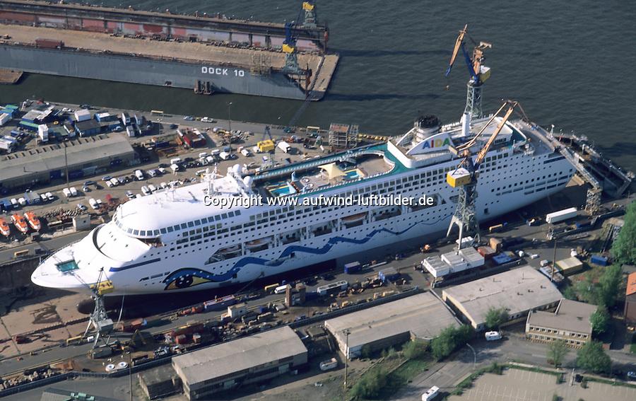 Deutschland, Hamburg, Hafen, Blohm und Voss, AIDA, Kreuzfahrtschiff, Werft
