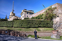 MONASTERY MATER ECCLESIAE, LARGO DEL MONASTERO, VATICAN CITY .residence of the Pope Emeritus Benedict XVI.The Vatican's gendarme corps  of Vatican City State (Italian: Corpo della Gendarmeria dello Stato della Città del Vaticano) is the gendarmerie, or police and security force, of Vatican City and the extraterritorial properties of the Holy See.<br /> The 130-member corps is led by an Inspector General, currently Domenico Giani,The corps is responsible for security, public order, border control, traffic control, criminal investigation, and other general police duties in Vatican City.March 14, 2018