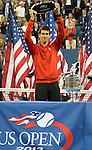Rafael Nadal (ESP) beats Novak Djokovic (SRB) 2-6, 6-3, 6-4, 6-1 in the men's final at the US Open being played at USTA Billie Jean King National Tennis Center in Flushing, NY on September 9, 2013