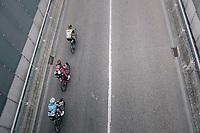 peloton emerging from the tunnel<br /> <br /> 2017 National Championships Belgium - Elite Men - Road Race (NC)<br /> 1 Day Race: Antwerpen > Antwerpen (233km)
