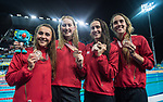 Wales Chloe Tutton, Kathryn Greenslade, Georgia Davies & Alys Thomas<br /> <br /> *This image must be credited to Ian Cook Sportingwales and can only be used in conjunction with this event only*<br /> <br /> 21st Commonwealth Games - Swimming -  Day 6 - 10\04\2018 - Gold Coast Optus Aquatic centre - Gold Coast City - Australia