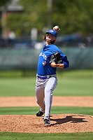 Toronto Blue Jays pitcher Thomas Ruwe (52) during an Extended Spring Training game against the Philadelphia Phillies on June 12, 2021 at the Carpenter Complex in Clearwater, Florida. (Mike Janes/Four Seam Images)