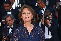 Jacqueline Bisset, sur le tapis rouge pour la projection du film D APRES UNE HISTOIRE VRAIE, hors competition lors du soixante-dixième (70ème) Festival du Film à Cannes, Palais des Festivals et des Congres, Cannes, Sud de la France, samedi 27 mai 2017.