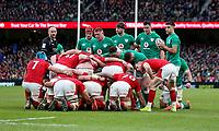 Saturday 8th February 2020 | Ireland vs Wales<br /> <br /> Ireland scrum during the 2020 6 Nations Championship   clash between Ireland and Wales at he Aviva Stadium, Lansdowne Road, Dublin, Ireland. Photo by John Dickson / DICKSONDIGITAL