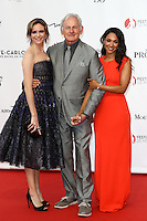 56th Monte-Carlo Television Festival opening red carpet. Victor Garber, Candice Patton and Danielle Panabaker.
