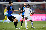 Chelsea Midfielder N'Golo Kante (R) plays against FC Internazionale Midfielder Roberto Gagliardini (L) during the International Champions Cup 2017 match between FC Internazionale and Chelsea FC on July 29, 2017 in Singapore. Photo by Marcio Rodrigo Machado / Power Sport Images