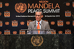 Opening Plenary Meeting of the Nelson Mandela Peace Summit<br /> <br /> trinidad and tobago FM