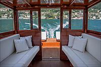 Lago di Como, Italia, Laglio, cantiere navale Ernesto Riva.