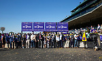 November 7, 2020 : Connections for Knicks Go winner of the Big Ass Fans Dirt Mile on Breeders' Cup Championship Saturday at Keeneland Race Course in Lexington, Kentucky on November 7, 2020. Bill Denver/Breeders' Cup/Eclipse Sportswire/CSM