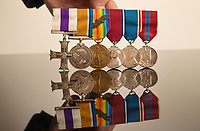 BNPS.co.uk (01202) 558833<br /> Pic: ZacharyCulpin/BNPS<br /> <br /> The war medals of former British Prime Minister Anthony Eden have today sold for over £27,000 following a bidding war.<br /> <br /> Before entering politics, Eden served as a captain in the King's Royal Rifle Corps during World War One and was recognised for his gallantry.<br /> <br /> He fought with distinction on the Western Front at the Battle of the Somme and the Third Battle of Ypres despite the deaths of two of his brothers in the conflict.<br /> <br /> In the summer of 1916, Eden was awarded the Military Cross after helping to rescue a gravely wounded comrade under hostile fire during a trench raid near Ploegesteert.<br /> <br /> His medals were sold by a source close to the Eden family with auctioneers Woolley & Wallis, of Salisbury, Wilts. It is believed that this is the first time the medals of a 20th century British Prime Minister have been offered at auction.