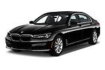 2019 BMW 7-Series 740i 4 Door Sedan Angular Front automotive stock photos of front three quarter view