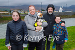 Taking Trixie the dog for a walk in Blennerville on Sunday, l to r: Clodagh, Joanne, Peter and Eoghán O'Connor