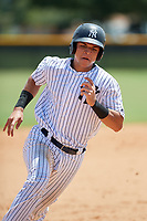 GCL Yankees East catcher Pedro Diaz (55) runs the bases during a game against the GCL Blue Jays on August 2, 2018 at Yankee Complex in Tampa, Florida.  GCL Yankees East defeated GCL Blue Jays 5-4.  (Mike Janes/Four Seam Images)