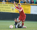 24/08/2010   Copyright  Pic : James Stewart.sct_jsp001_alloa_v_aberdeen  .:: FRASER FYVIE IS BROUGHT DOWN BY STEPHEN ROBERTSON FOR ABERDEEN'S PENALTY :: .James Stewart Photography 19 Carronlea Drive, Falkirk. FK2 8DN      Vat Reg No. 607 6932 25.Telephone      : +44 (0)1324 570291 .Mobile              : +44 (0)7721 416997.E-mail  :  jim@jspa.co.uk.If you require further information then contact Jim Stewart on any of the numbers above.........