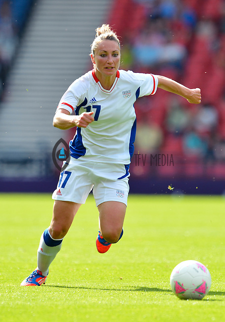 July 25, 2012..Gaetane Thiney (17). USA vs France Football match during 2012 Olympic Games at Hampden Park in Glasgow, England. USA defeat France 4-2 after conceding two goals in the first half of the match...(Credit Image: © Mo Khursheed/TFV Media)