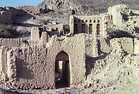 Tanuf, Oman.  Ruins of the Town, Bombed by the British in 1954,
