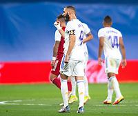 12th September 2021; Estadio Santiago Bernabeu, Madrid, Spain; La Liga, Real Madrid CF versus RC Celta de Vigo; Karim Benzema celebrates scoring the first Madrid goal in the 20th minute for 1-1