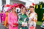 Enjoying the Ladies Day at the Listowel Races on Friday, l to r: Tasha O'Connor (Templeglantine), Jordana Lambadarios (Templeglantine) and Karen Kennelly (Abbeyfeale).