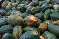 Borobudur, Java, Indonesia.  Papayas Awaiting Transport to Market.