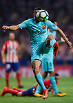 Jordi Alba Ramos of FC Barcelona in action during the La Liga 2017-18 match between Atletico de Madrid and FC Barcelona at Wanda Metropolitano  on 14 October 2017 in Madrid, Spain. Photo by Diego Gonzalez / Power Sport Images