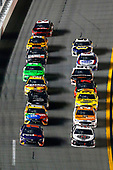 Monster Energy NASCAR Cup Series<br /> Can-Am Duel At Daytona<br /> Daytona International Speedway, Daytona Beach, FL USA<br /> Thursday 15 February 2018<br /> Denny Hamlin, Joe Gibbs Racing, FedEx Express Toyota Camry and Kevin Harvick, Stewart-Haas Racing, Jimmy John's Ford Fusion<br /> World Copyright: Russell LaBounty<br /> LAT Images