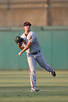 Andrew Suarez (32) of the San Jose Giants throws in the outfield before pitching during a game against the Inland Empire 66ers at San Manuel Stadium on August 26, 2015 in San Bernardino, California. San Jose defeated Inland Empire, 8-1. (Larry Goren/Four Seam Images)