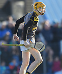 Ballyea keeper Barry Coote celebrates a second half goal during the county senior hurling final against Cratloe at Cusack Park. Photograph by John Kelly.